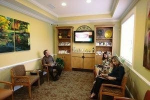Brookwood Dentistry waiting room
